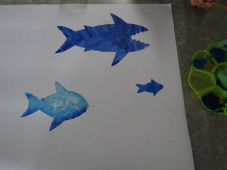 Рисунок акулы - морские трафареты (7)