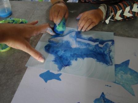 Рисунок акулы - морские трафареты (6)