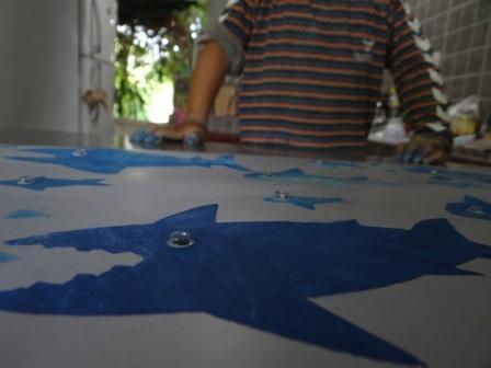 Рисунок акулы - морские трафареты (2)
