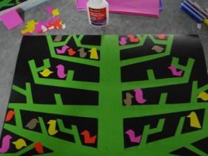 Аппликация дерево - поделка для школьников (7)