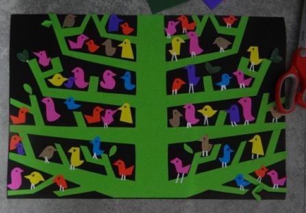Аппликация дерево - поделка для школьников (5)