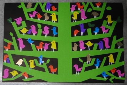 Аппликация дерево - поделка для школьников (3)