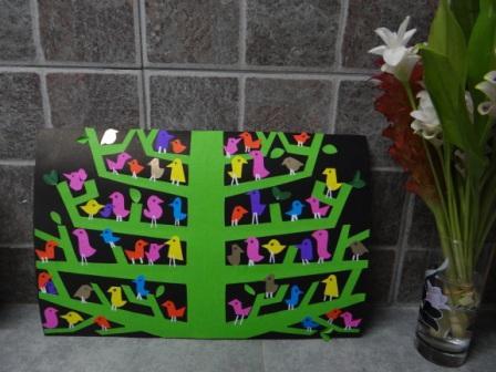 Аппликация дерево - поделка для школьников (2)