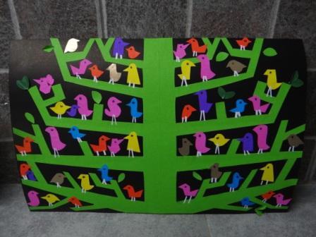 Аппликация дерево - поделка для школьников (1)
