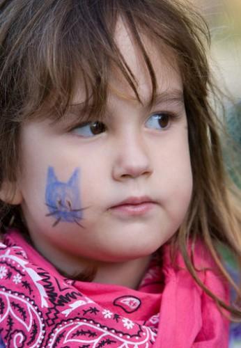 Детский грим - раскрасить лицо на Хэллоуин (8)