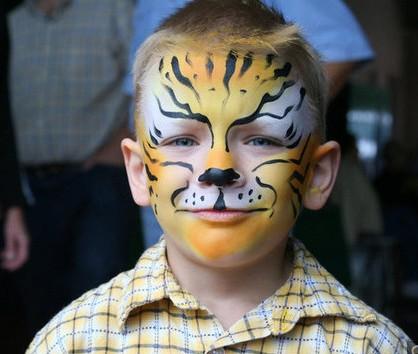 Детский грим - раскрасить лицо на Хэллоуин (4)