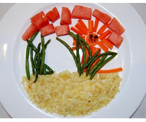 Забавная идея как накормить ребенка - детское оформление блюд (1)