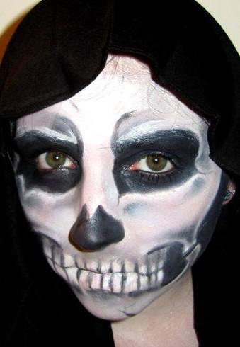 Детский грим - раскрасить лицо на Хэллоуин (6)