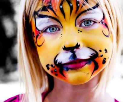 Детский грим - раскрасить лицо на Хэллоуин (7)