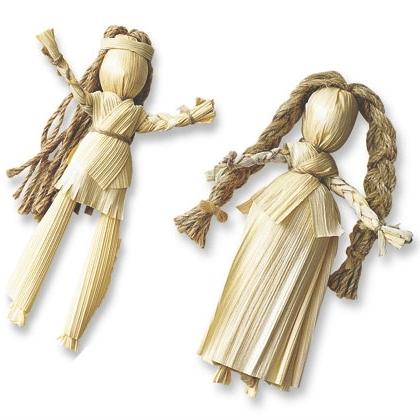 Человечек из соломы своими руками