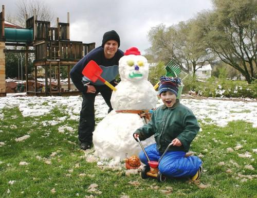 Поделка снеговик - фото снеговика (6)