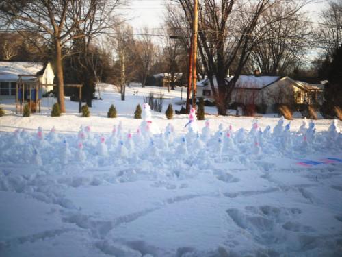 Поделка снеговик - фото снеговика (4)