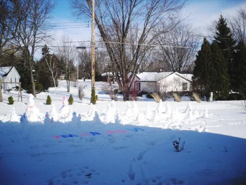 Поделка снеговик - фото снеговика (3)