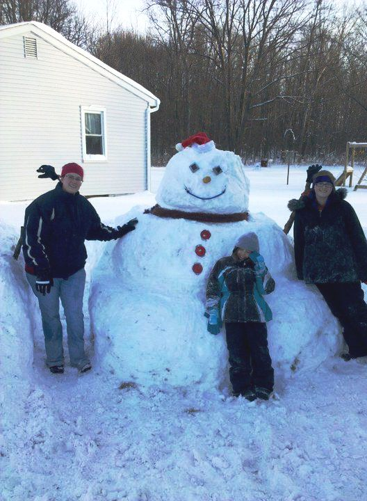 Поделка снеговик - фото снеговика