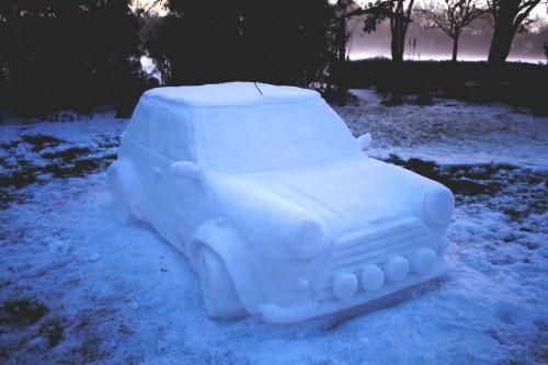 Фигурки из снега - скульптуры из снега (3)