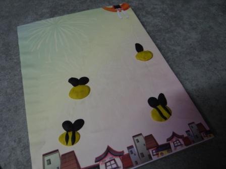Поделка пчела - рисуем пластилином (5)