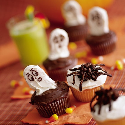 Рецепты на Хэллоуин – Мини кексы