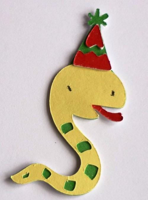 Поделки к году змеи - поделки из бумаги к Новому году (2)