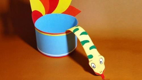Поделки к году змеи - поделки из бумаги к Новому году (8) .