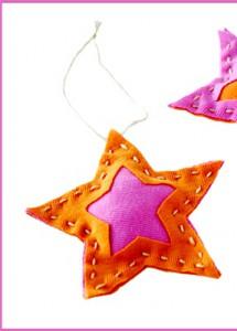 Поделки своими руками на елку - новогодняя звезда (1)