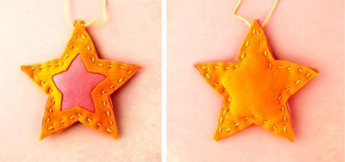 Поделки своими руками на елку - новогодняя звезда (3)