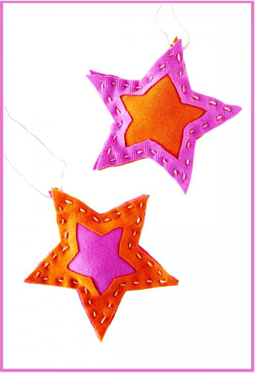 Поделки своими руками на елку - новогодняя звезда (4)
