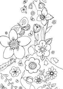Раскраски букет цветов для мамы