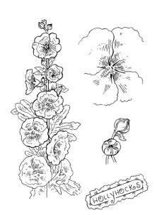 Раскраски цветов для детей — букет