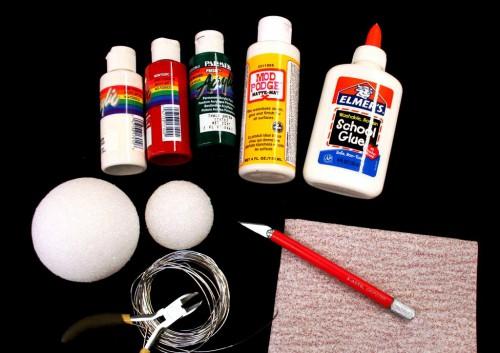 Самодельные новогодние игрушки - елочные украшения ручной работы (3)