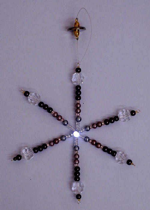 Снежинка и бисера своими руками