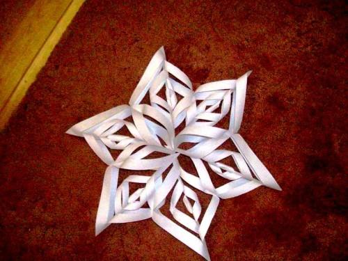 Снежинки своими руками - схемы снежинок из бумаги (4)