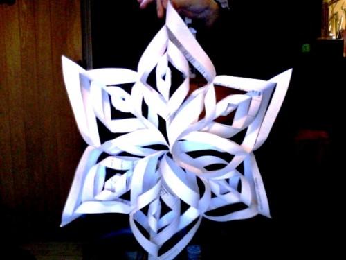 Снежинки своими руками - схемы снежинок из бумаги (6)