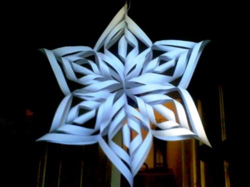Снежинки своими руками - схемы снежинок из бумаги (7)