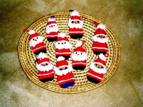 Елочные игрушки крючком - вязаные новогодние игрушки (4)