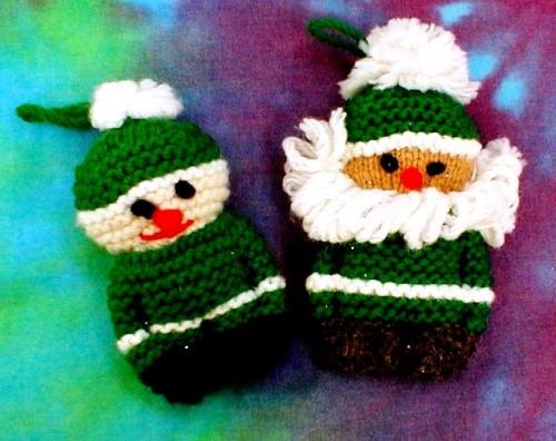 Елочные игрушки крючком - вязаные новогодние игрушки (7)