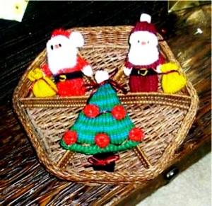 Елочные игрушки крючком - вязаные новогодние игрушки (10)