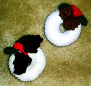 Елочные игрушки крючком - вязаные новогодние игрушки (13)
