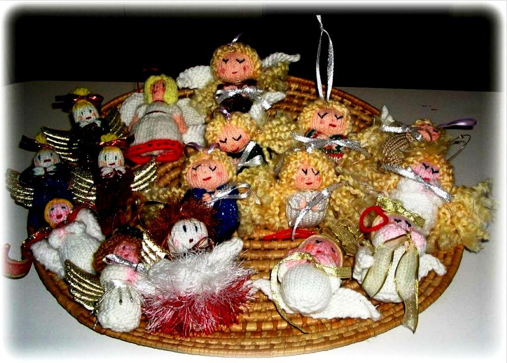Новогодние украшения ангелы своими руками