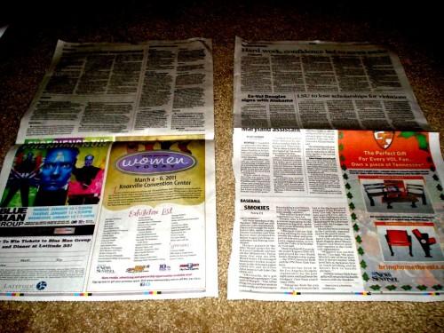 Из чего сделать елку - елка из газет (2)