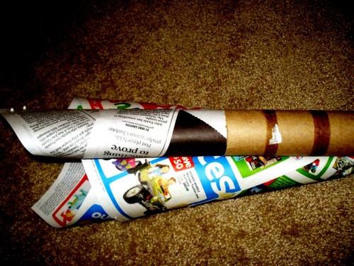 Из чего сделать елку - елка из газет (6)