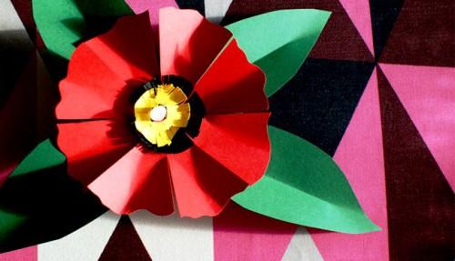 Как делать цветы из бумаги - сделать светильник своими руками (1)