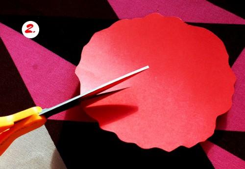 Как делать цветы из бумаги - сделать светильник своими руками (4)