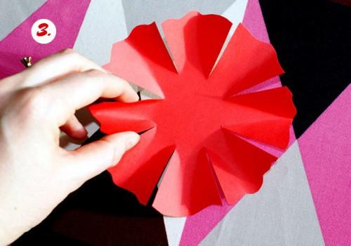 Как делать цветы из бумаги - сделать светильник своими руками (5)