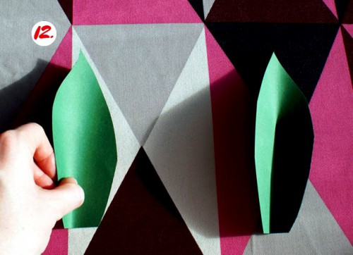 Как делать цветы из бумаги - сделать светильник своими руками (14)