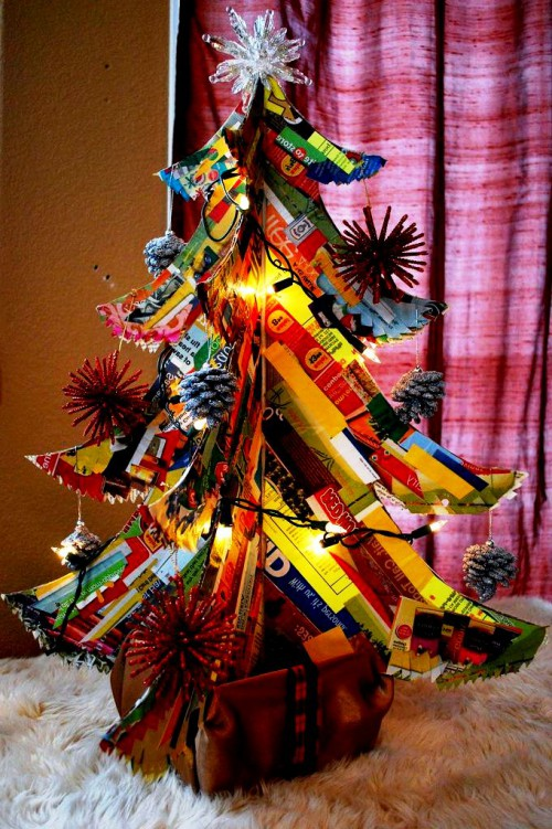 Креативная новогодняя елка своими руками мастер класс