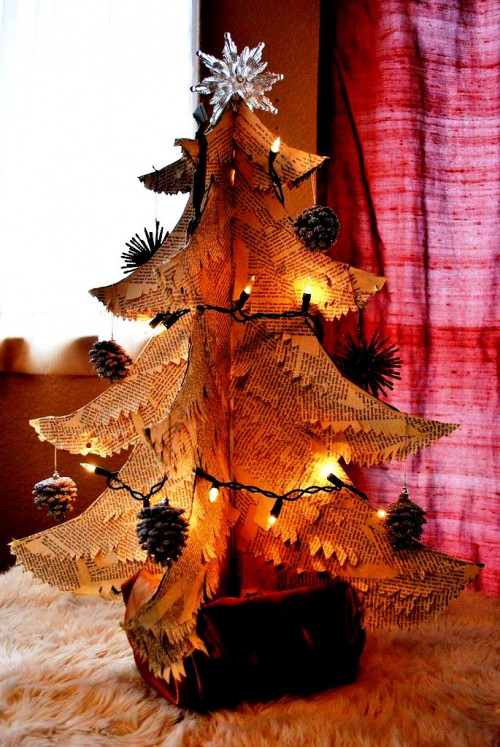 Поделка елка своими руками фото из бумаги