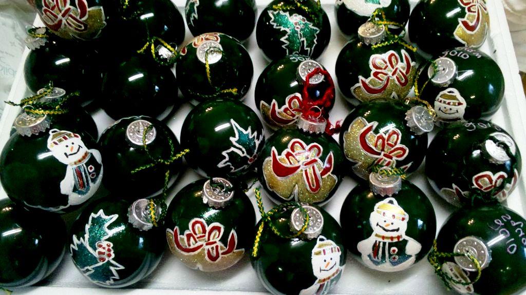 Новогодние открытки шары своими руками