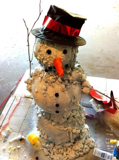 Снеговик из модулей - снеговик картинки (2)
