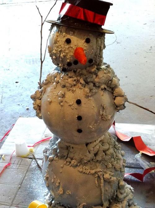 Снеговик из модулей - снеговик картинки (3)