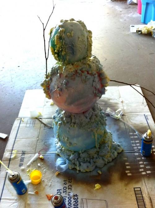 Снеговик из модулей - снеговик картинки (7)